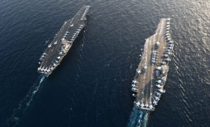 US Aircraft Carrier in South China Sea