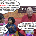 Mathematics Education Researcher and Historian Jonathan J. Crabtree in India with children
