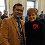 Puneet Dwivedi with Scottish First Minister
